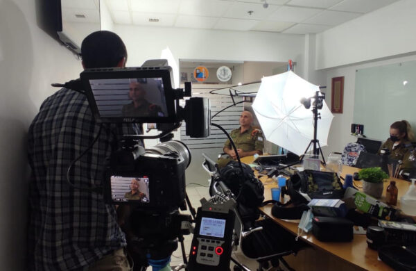 First day of filming Underway at the IDF Home Front Command