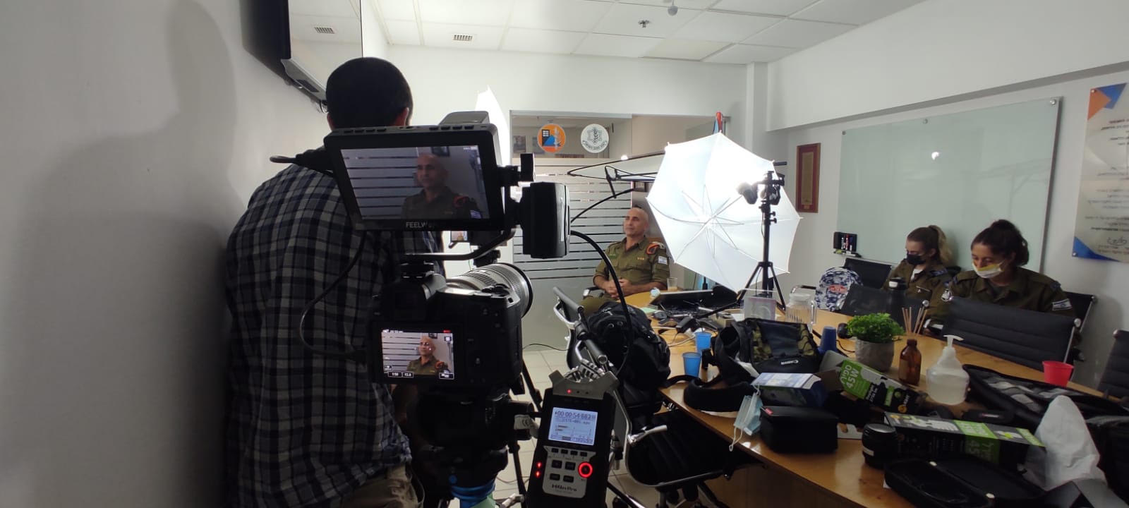 <b>First day of filming Underway at the IDF Home Front Command</b><br>